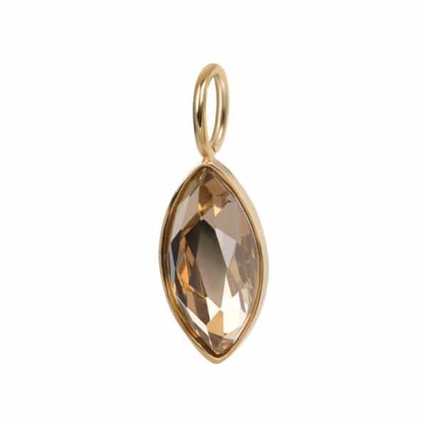 Goudkleurige hanger diamant Topaz C43019-01 - iXXXi