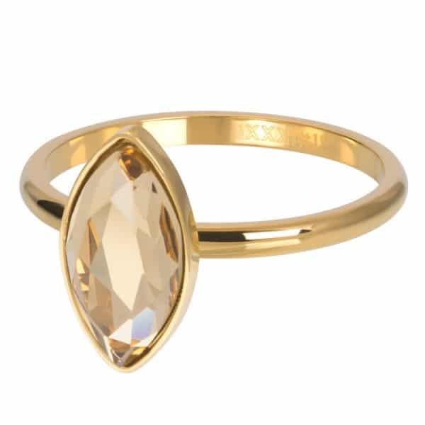 Goudkleurige vulring diamant Topaz R05701-01 - iXXXi