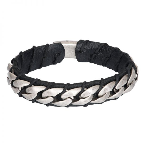 Heren armband leather Alex M00580-04 - iXXXi