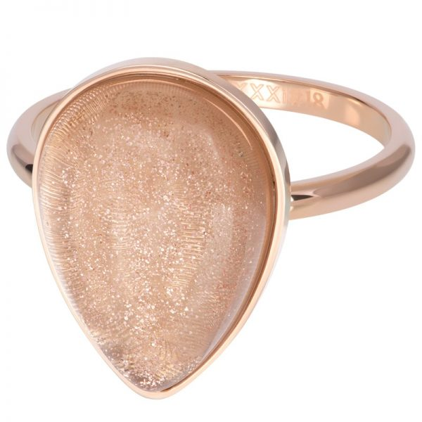 Rosékleurige vulring steen druppel Champagne R05703-02 - iXXXi