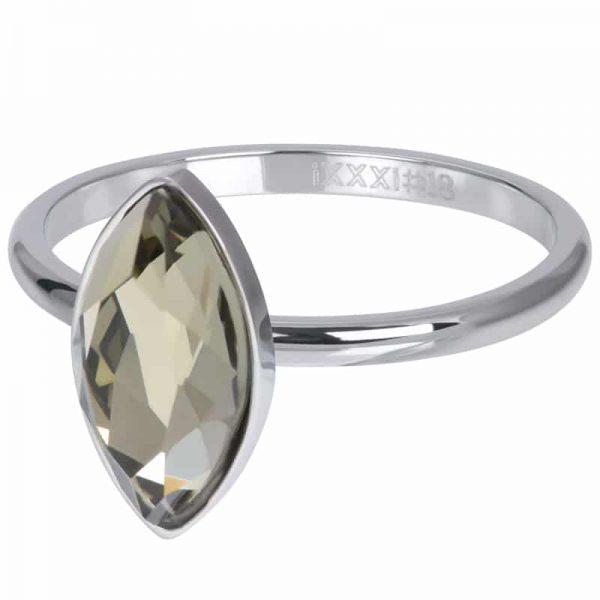 Zilverkleruige vulring diamant Crystal R05701-03 - iXXXi