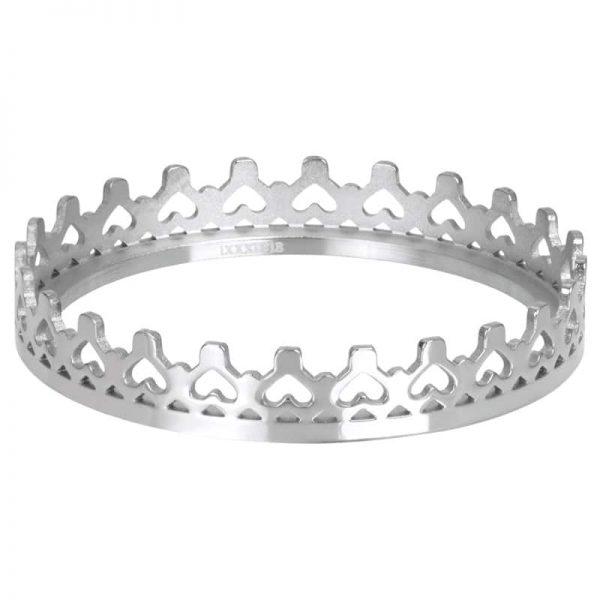 Zilverkleurige vulring kroon R05807-03 - iXXXi
