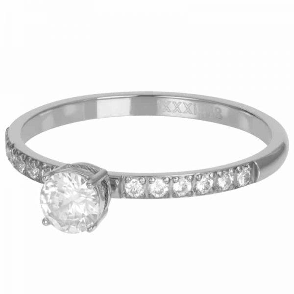 Zilverkleurige vulring Queen R05809-03 - iXXXi